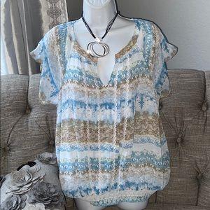 Christopher Banks Top Shirt Blouse XL LN